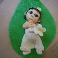 Little Girl Cake Topper made from sugarpaste(homemade).Thanks Aine2 for inspiration.