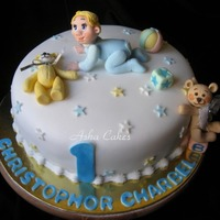 Birthday Cake For Christopher Charbel Design mainly based on a design by Lynette Horner.