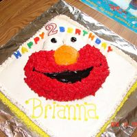 "Elmo Cake This is my ""first"" cake that I did for someone other than my family. It was for my friend's daughter's 2nd bday. WASC..."