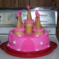 Pink Castle Cake When our children's department at church painted the children's room like a castle I made this cake for our big opening night...