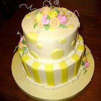 Linda 6/8 whie cake with buttercream filling and icing. All decorations fondant with wire accents. Thanks for looking