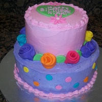 Birthday Cake   Buttercream with fondant accents
