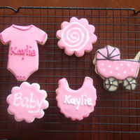 Baby Girl Cookies   NFSC with royal icing