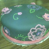 Brushed Embroidery On Fondant