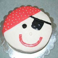 Pirate I've used wipped cream and fondant (not a good choice - the fondant melted), good thing that it was for one of my nephews and he...