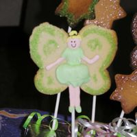Tinkerbell Cookie An attempt to do a Tinkerbell... A little too 'round', but my daughters loved it!!