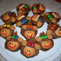 Monkey Cupcakes These were decorated by my stepdaughter. They were so easy and cute!