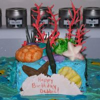Coral Reef Cake Coral Reef cake iced with BC. Gumpaste and Royal icing coral.