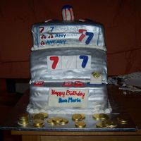 Lucky 7 Made for a 60th birthday. The woman always plays the same red, white, and blue lucky 7 slot machine. Thank you to ALL the CC members for...