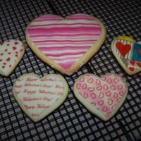 Valentine's Cookies NFSC with chocolate transfers. I made these just to see how messy (VERY!) it would be to use the chocolate transfers on cookies.