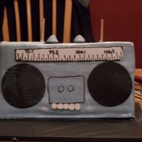 Ron's Boom Box This was made for an 80's themed party. I attached the handle after I took the pick!