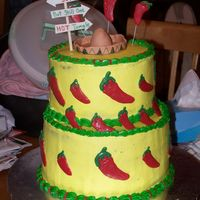 "Amanda's Chili Peppers This was for a 30th birthday party that was held at a Mexican restaurant. Thank you to all who's ""spicy"" cakes inspired me..."