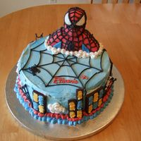 Spiderman I incorporated many ideas that I have gotten from this site to create this cake. I thank all of you for being so creative. My son loved it...