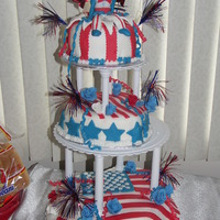 4Th July This was a fun cake to make had the kids helping too!