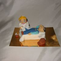 Nurse Busy With Patient all made from fondant mixed with tylose