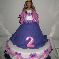 Couture Barbie This cake I made for my little girl on the 4th of july this yearThis cake represents verything she loves now already