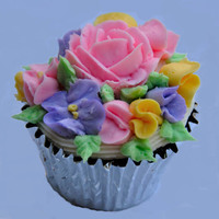 Flower Garden   Cupcake filled with butter cream flowers