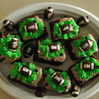 Football   Brownies decorated for the Super Bowl