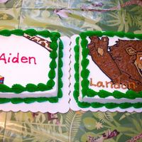 Madagascar Cakes   These are the cakes I made for my little guys' fourth birthdays...all buttercream frosting