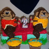 "Monkeys On A Seesaw  This was one of my very first cakes. It was when my two little ""monkeys"" were turning two. :) I didn't have the right pans,..."