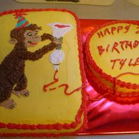 Tyler's 2Nd Birthday I was asked to make a cake for my daycare provider's son for his 2nd birthday. The theme was Curious George. They loved it!