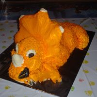 Aidan's 3Rd Birthday Cake This is my attempt at Cera from The Land Before Time for my son's birthday. He loved it!