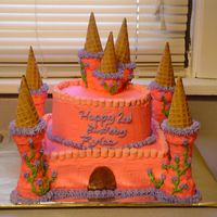 My 1St Castle This cake took awhile. It was for my friends daughter. The work was definately worth the reactions they gave