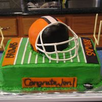 Groom's Cake - Cleveland Browns This cake was very stressful to make, as it was a groom's cake for my cousin's fiance. I think it turned out well, and as always...