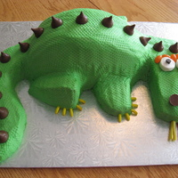 Dragon Cake What a fun cake to make! Used the scale template.