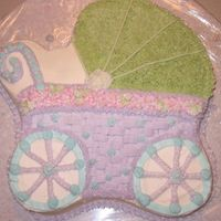 Baby Carriage Buttercream, choclate cake.