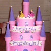 Princess Alexandra This was made using the tutorial on cakeboss.com. Cake is BC with fondant accents. Royalicing flowers and fondant dasies.