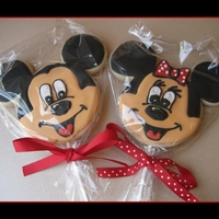 "Mickey & Minnie Cookies 18 inches (3/8 inch wide) of ribbon, per cookie. I used the 8 inch lollipop sticks, but would suggest the 6"" instead."