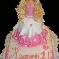 Heavenly Barbie Cake Hello,it has been a while since my last visit but i have been extremly busy.This is my latest creation.A Barbie doll cake, hope u all like...