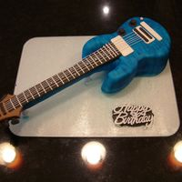 Guitar Birthday Cake vanilla sponge with vanilla butter cream. hand carved to copy a PRS custom guitar, thanks for looking!
