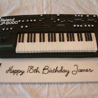 Roland Keyboard Cake Chocolate sponge with chocolate fudge filling. I was asked to replicate a keyboard of the 18 year olds actual keyboard. This took me...
