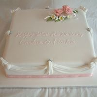 Silver Anniversary The lady wanted a simple anniversary cake to renew her vows. She want pink as it was the color scheme of her original wedding. Vanilla...