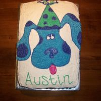Blue's Clues My nephew is just crazy about Blue! I couldn't find a cake pan in town and didn't have enough time to order one online...so, I...