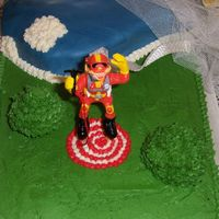 Skydiving Cake Buttercream and fondant with chocolate cake and truffle fudge filling. I love to bake and have only recently begun to experiment with the...