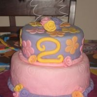 Dari 2Nd Bday Homemade fondant in almond flavor, amaretto cake with buttercream filling.