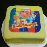 Handy Manny Edible Image This is a Rum cake with vanilla/Almond Fondant