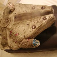 Millennium Falcon This is my very first sculptured cake and I am so excited how it came out. I hope you like it as much as I made making it.