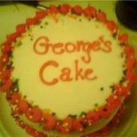 "George's Cake I was making a 6"" for my MIL (the pink cornelli one) on her birthday, when I found out my very hungry BIL was going to be there too!..."