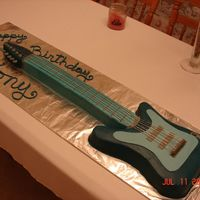 Guitar Cake First carved cake. Guitar cake for my nephew's 16th birthday.