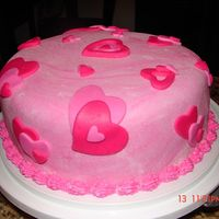 Heart Cake Just a simple cake made for Valentine's day celebration at work.
