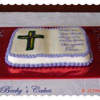 Easter_Cross_06 Marble cake with BC icing. Cross is made with colored piping gel.