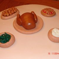 Turkey Dinner Cake Decorations were all created from MMF.