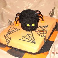 Spider Cake This was a birthday cake I made for a co-workers son. He wanted something with a Halloween theme.