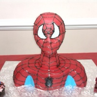 Spiderman A special thanks to all of the cake central members that give step by step instrutions... Spiderman was made with a styrofoam wig head and...