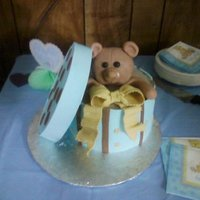 Bear In A Box Yellow cake covered in fondant