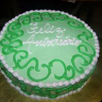 Green Cake made for a costumer..hopefully she will like it.
